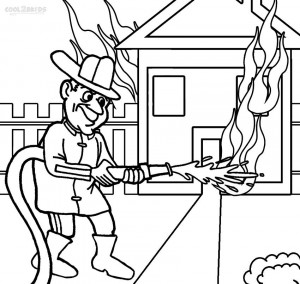 Fireman Coloring Pages for Kids