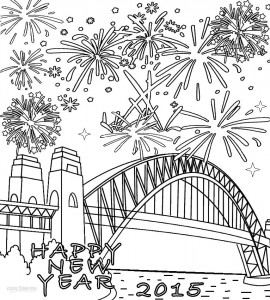 Firework Coloring Page