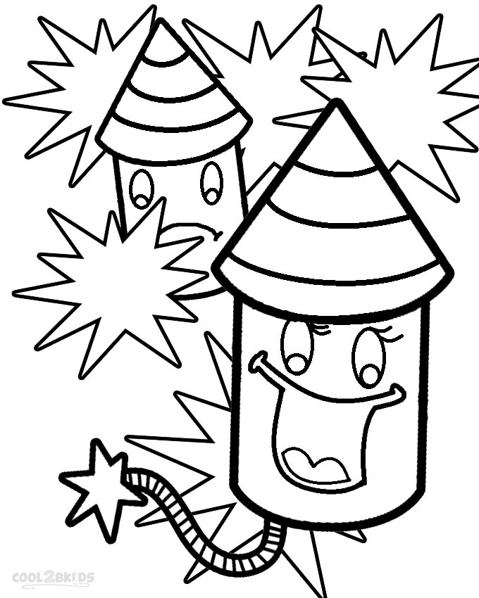 fire work coloring pages - photo#16