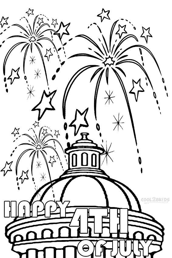 Printable Fireworks Coloring Pages For Kids | Cool2bKids