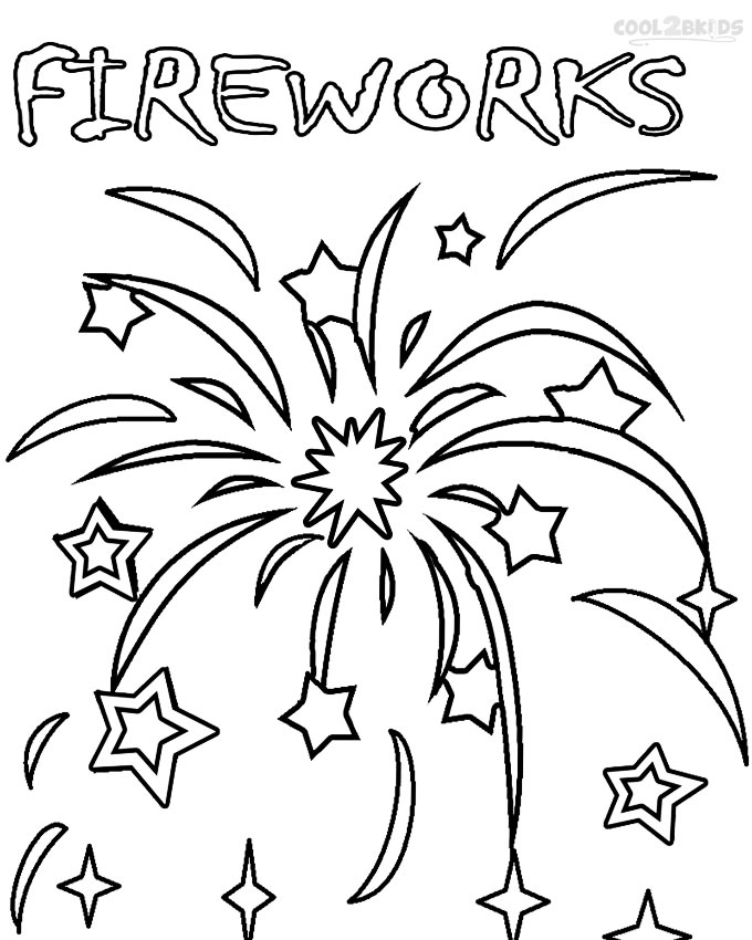 free fireworks coloring pages - photo#8
