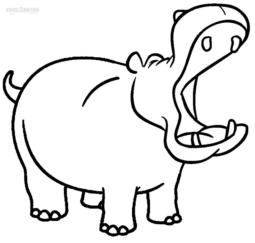 hippopotamus coloring pages to print - photo#25