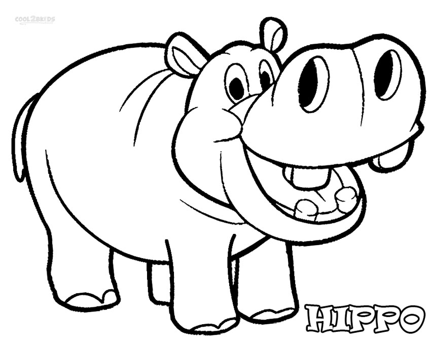hippopotamus coloring pages to print - photo#8