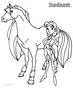 Horseland Coloring Pages Sunburst