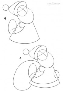 How to Draw Santa Clause Step 2