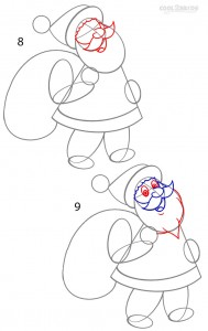 How to Draw Santa Clause Step 4