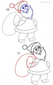 How to Draw Santa Clause Step 5