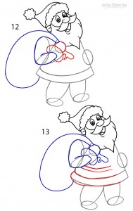 How to Draw Santa Clause Step 6