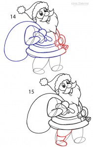 How to Draw Santa Clause Step 7