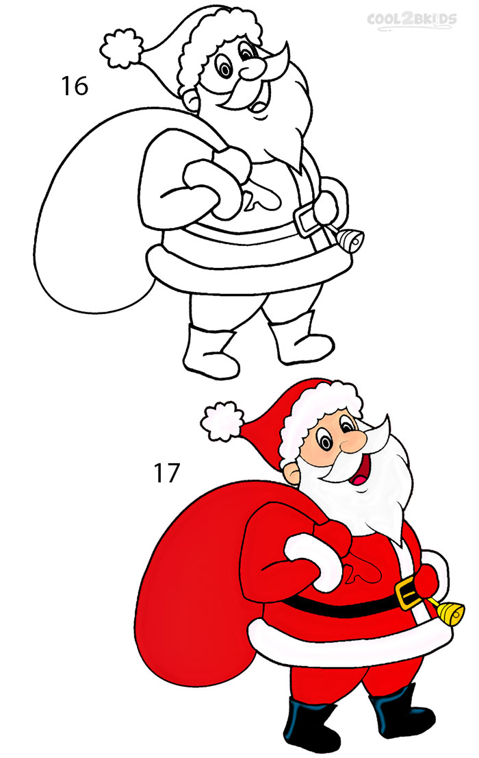 How to draw santa clause step by pictures cool bkids