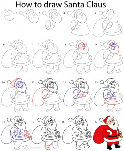 How To Draw Santa Clause Step By Step Pictures Cool2bkids