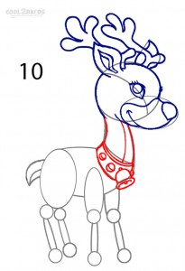 How to Draw a Reindeer Step 10