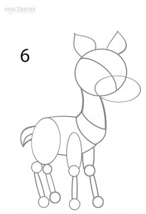 How to Draw a Reindeer Step 6