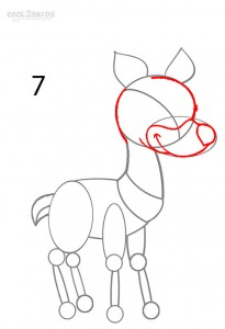 How to Draw a Reindeer Step 7