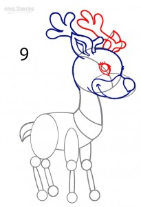 How to Draw a Reindeer Step 9