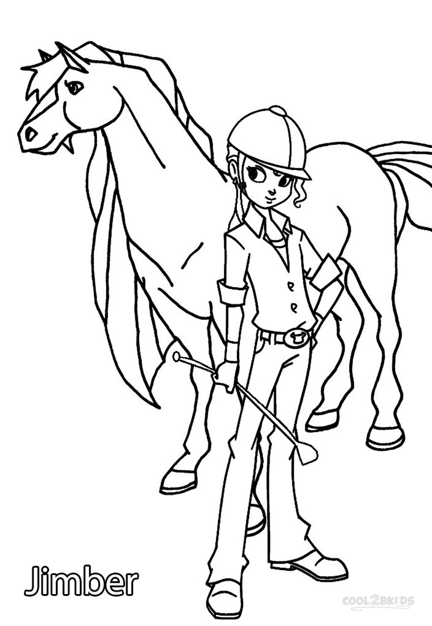 horseland coloring pages sarah | Printable Horseland Coloring Pages For Kids | Cool2bKids