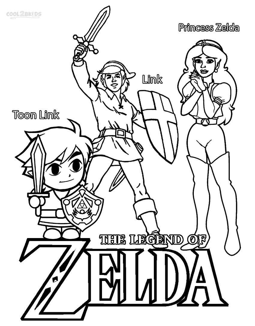 Coloring pages for zelda - Legends Of Zelda Coloring Pages