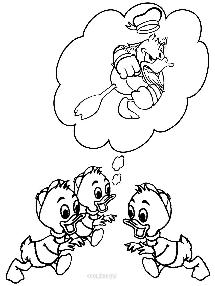 Printable donald duck coloring pages for kids cool2bkids for Ducks coloring pages