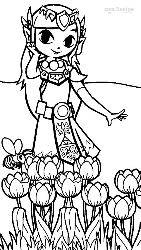 princess zelda coloring pages - Zelda Coloring Pages
