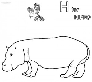 Pygmy Hippo Coloring Pages