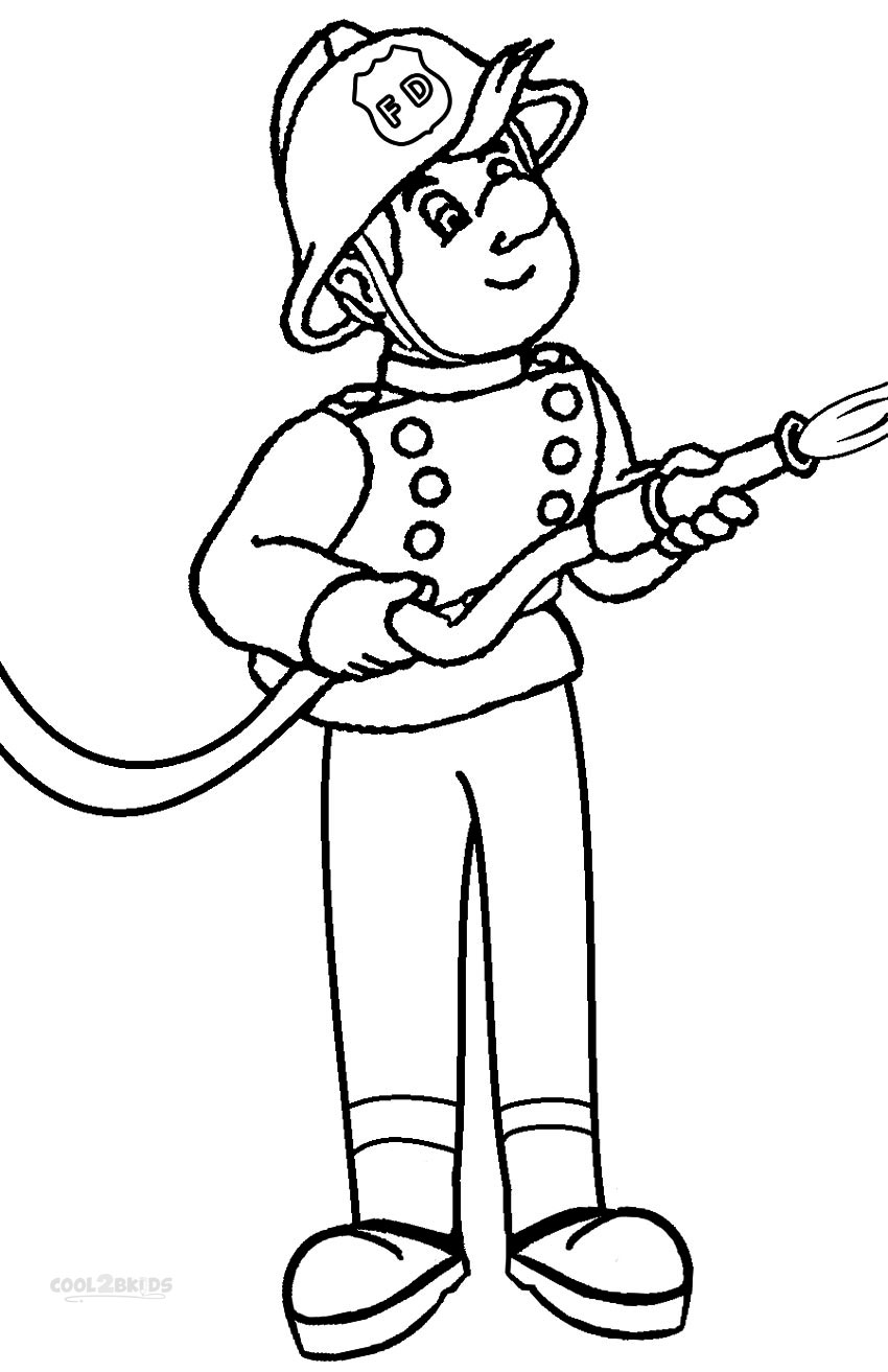 fireman and policeman coloring pages - photo#39