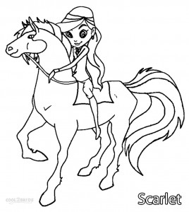 Scarlet Horseland Coloring Pages
