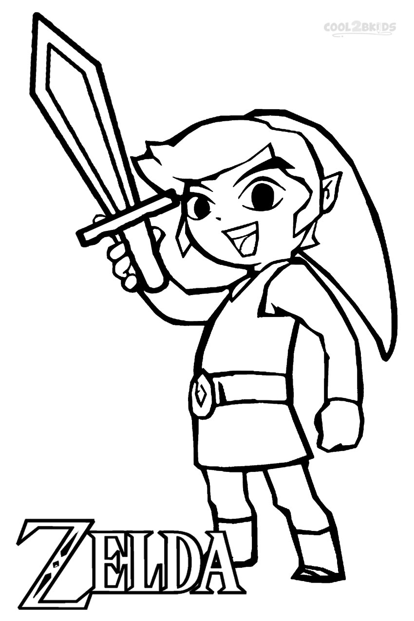 Coloring pages for zelda - The Legend Of Zelda Coloring Pages