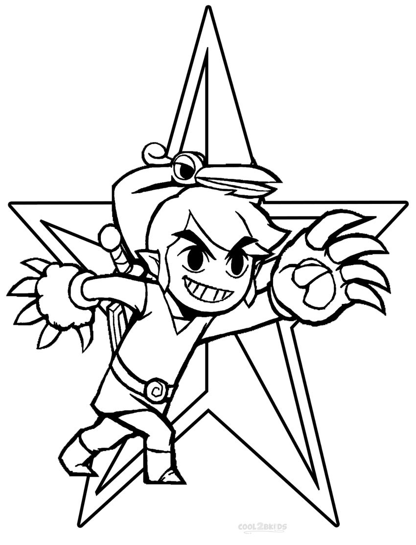 Printable zelda coloring pages for kids cool2bkids - Coloriage link ...