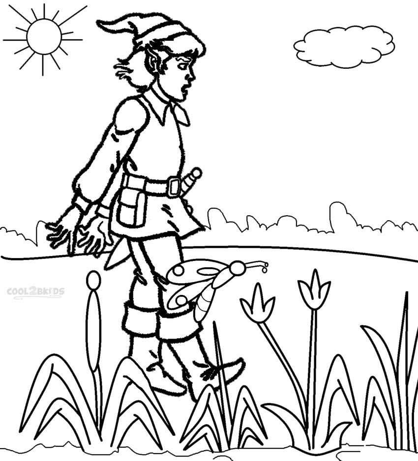 Printable Zelda Coloring Pages