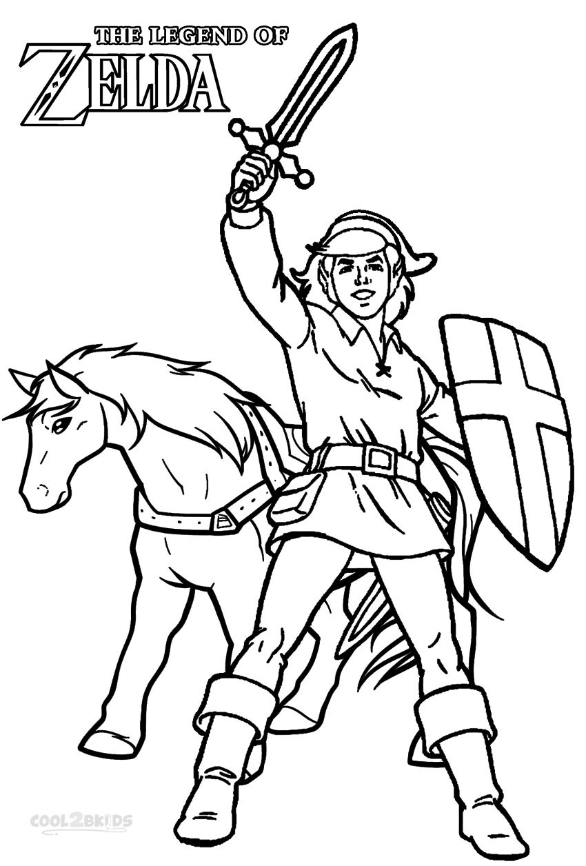 Link Coloring Pages Printable Zelda Coloring Pages For Kids  Cool2Bkids