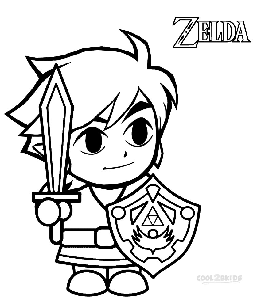 Legend Of Zelda Coloring Pages Extraordinary Printable Zelda Coloring Pages For Kids  Cool2Bkids Decorating Inspiration