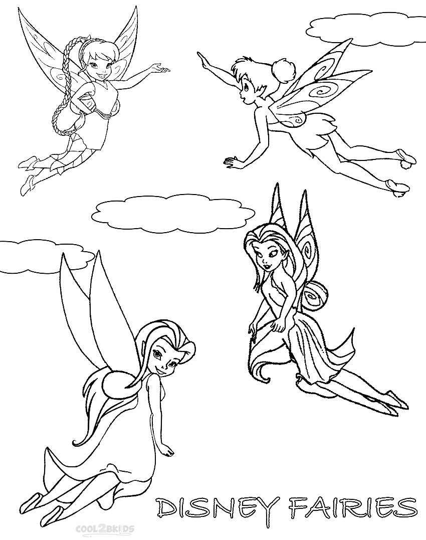 Printable Disney Fairies Coloring Pages For Kids