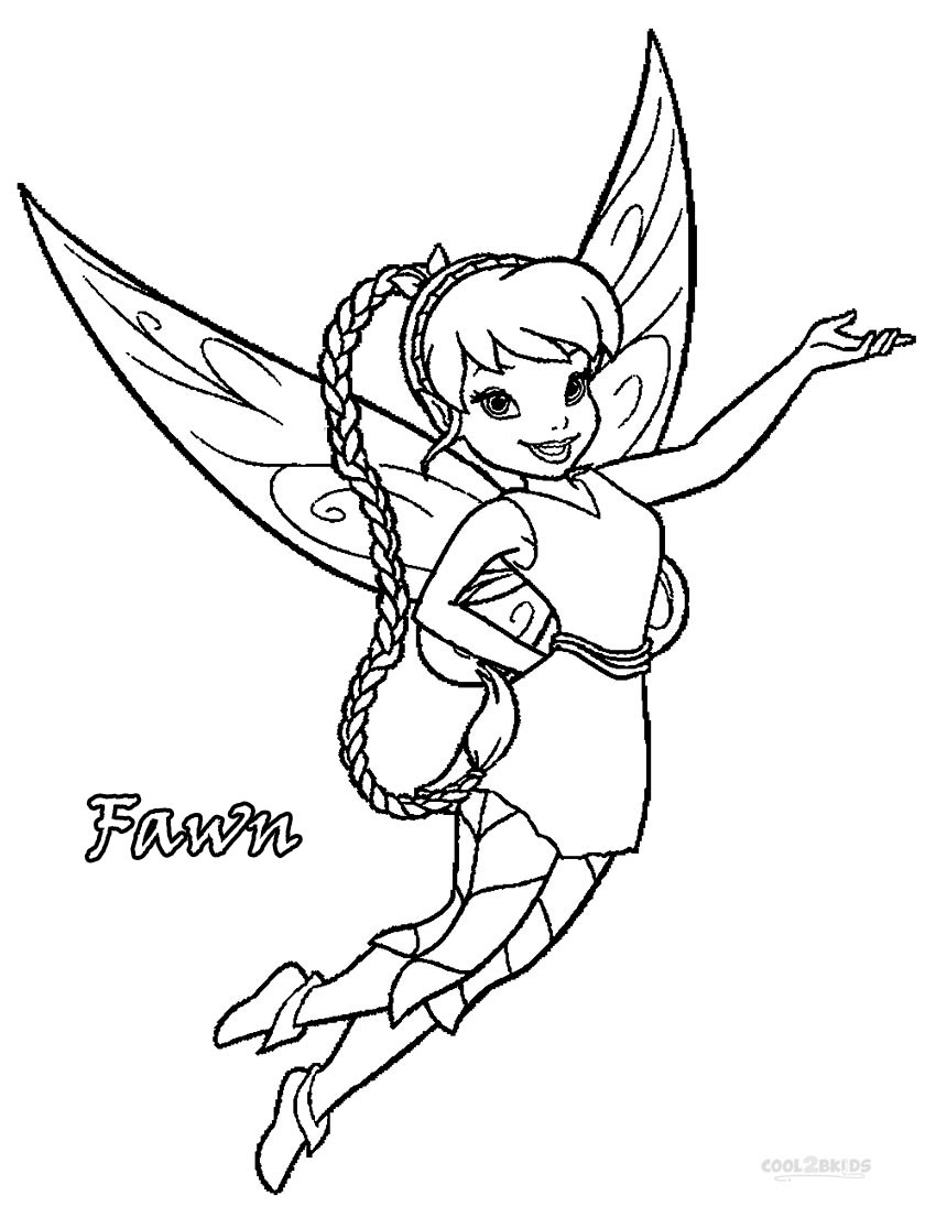 Printable Disney Fairies Coloring