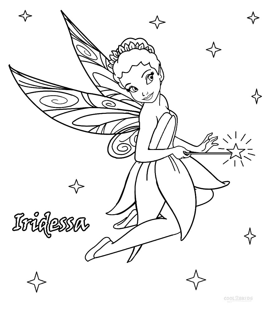 disney fairies iridessa coloring pages - Fairy Coloring Page