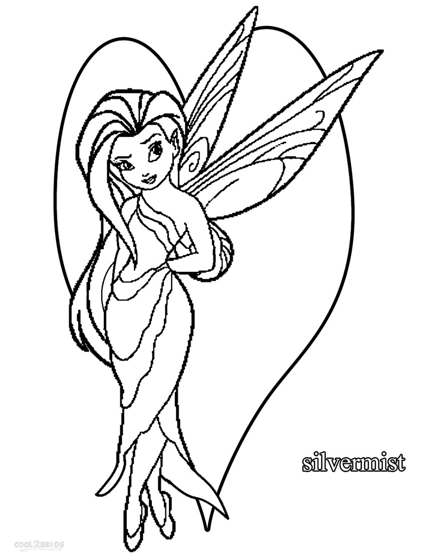 silver mist tinkerbell coloring pages - photo#6