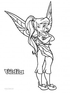 Disney Fairies Vidia Coloring Pages