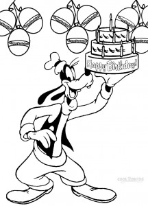 Goofy Birthday Coloring Pages
