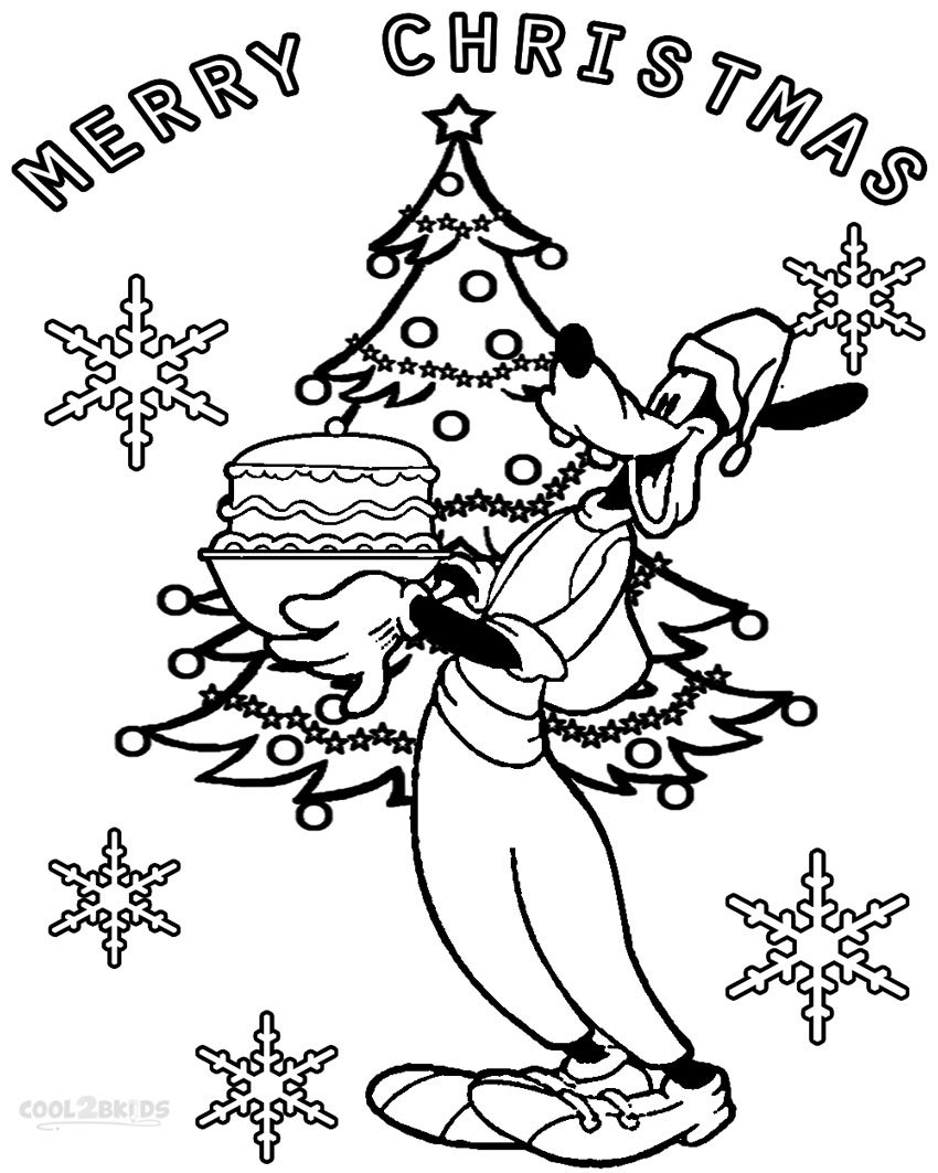 Printable goofy coloring pages for kids cool2bkids for Christmas printables coloring pages