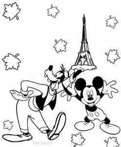 Goofy and Mickey Mouse Coloring Pages