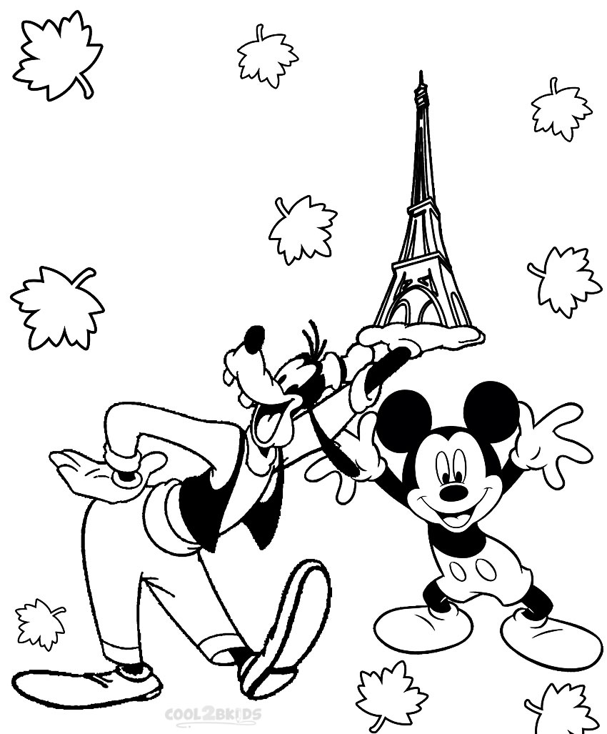 Printable Goofy Coloring Pages For Kids