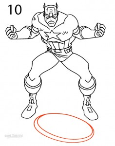 How to Draw Captain America Step 10