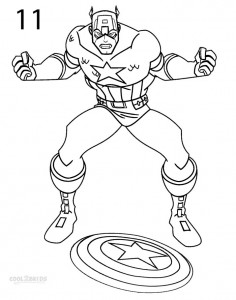 How to Draw Captain America Step 11
