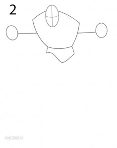 How to Draw Captain America Step 2