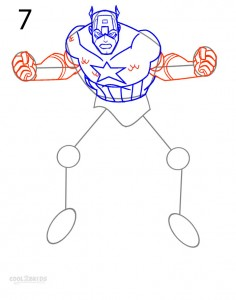 How to Draw Captain America Step 7