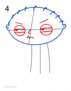 How to Draw Stewie Step 4