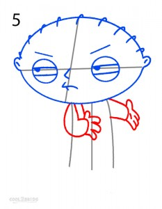How to Draw Stewie Step 5