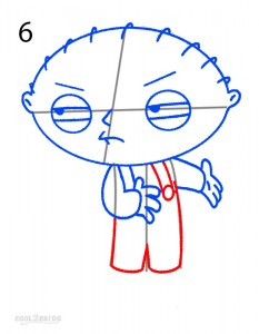How to Draw Stewie Step 6