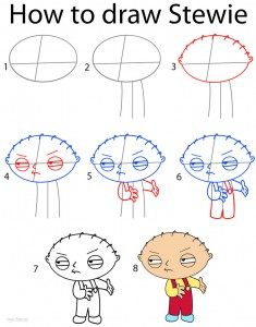 How to Draw Stewie Step by Step