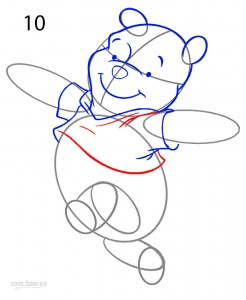 How to Draw Winnie the Pooh Step 10