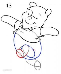 How to Draw Winnie the Pooh Step 12